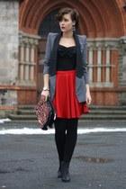H&M boots - ohmyfrock blazer - H&M top - skirt