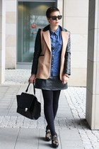 ohmyfrock jacket - bag - jeans shirt blouse - vintage skirt - Aldo wedges