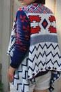 Linen-noname-shorts-aztec-sheinside-cardigan-flatforms-noname-sneakers