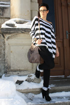 black primark Shoes shoes - only striped shirt shirt - light brown primark Bag b