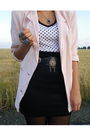 Pink-vintage-blazer-black-vintage-skirt-black-vintage-belt-white-unknown-s