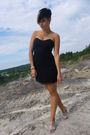 Black-new-yorker-dress-silver-bronx-shoes