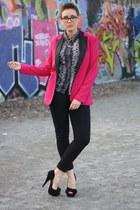 Vila pants - havealook blazer - snake print Vila blouse - Primark heels