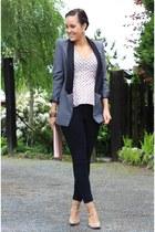 ohmyfrock blazer - peplum asos shirt - Jessica Buurman heels