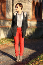 Primark-shirt-chicwish-cardigan-red-yest-pants