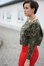 Camouflage-romwe-shirt-parka-primark-coat-h-m-skirt-mai-piu-senza-heels