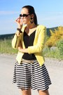 Yellow-sheinside-jacket-white-moschino-belt-black-primark-skirt