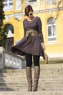 Bruno-premi-boots-vintage-dress-hallhuber-bag