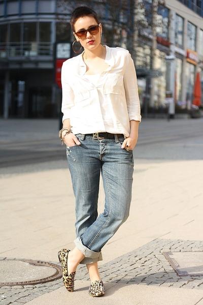Flats Boyfriend Jeans Mustang Pants Mango Blouses