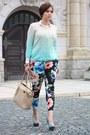 Dip-dye-primark-sweater-marc-b-bag-floral-h-m-pants-asos-heels
