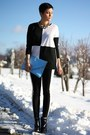 Black-buffalo-boots-black-romwe-shirt-sky-blue-bag-white-h-m-pants
