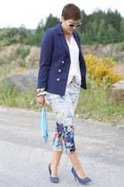 Primark pants - H&M blazer - Primark sunglasses - Primark heels - blouse