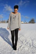black primark booties boots - periwinkle pimkie Sweater romper