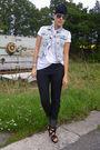 Blue-primark-vest-black-primark-shoes-white-vintage-shirt