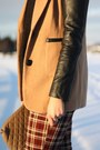 Plaid-vintage-pants-leather-sleeves-ohmyfrock-jacket-primark-shirt
