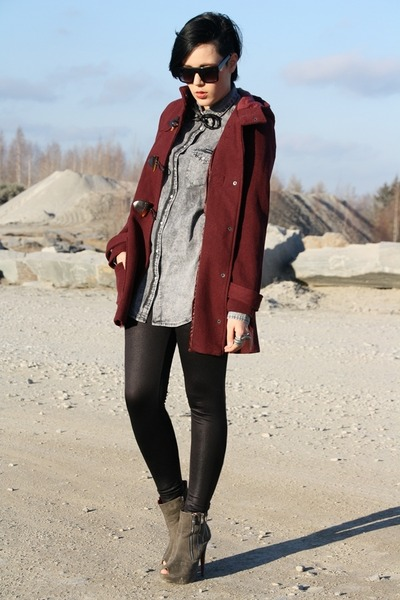 Burgundy Duffle Coat