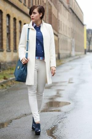 Primark coat - Primark sweater - sammydress bag - yest pants - Primark heels