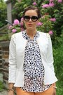 White-peplum-ax-paris-jacket-black-polka-dots-primark-shirt