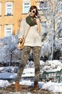 Primark-shoes-sweater-diy-scarf-camouflage-panties