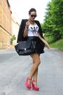 Black-sheinside-blazer-white-likoli-shirt-black-leather-h-m-skirt