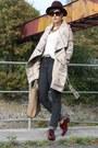 Takko-coat-cheap-monday-jeans-h-m-hat-yest-shirt-tamaris-flats