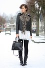 Sendra-boots-sheer-yest-dress-studded-leather-sheinside-jacket