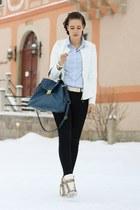 peplum AX Paris jacket - 3 suisses shirt - sammydress bag