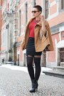 Black-deichmann-boots-ruby-red-primark-sweater-black-vintage-skirt