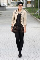 brown Primark dress - beige military jacket Vero Moda jacket - black New Yorker