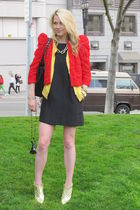 H&M jacket - ann taylor cardigan - banana republic dress - Giuseppe Zanotti shoe