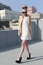 H&M dress - kenya T blazer - Chloe sunglasses - Forever 21 flats