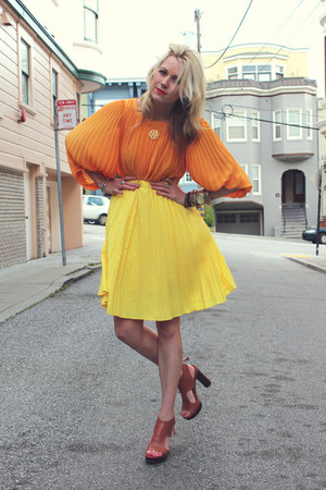 H&M blouse - Tommy Hilfiger skirt - pour la victorie heels
