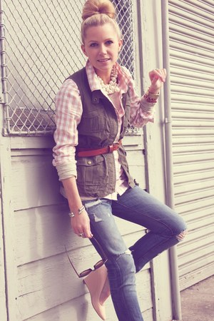 Jcrew shirt - BR jeans - Old Navy vest