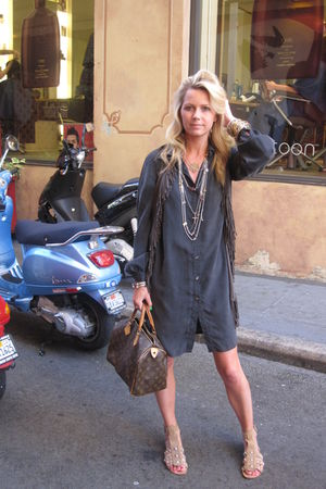 Walter dress - Zara shoes - Leyendecker vest - F21 necklaces accessories - LV pu