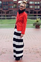 givency boots - Club Monaco dress - Jcrew jacket - H&M glasses