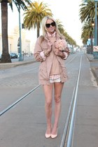 H&M jacket - Jcrew sweater - Karen Walker sunglasses - Pour La Victoire heels