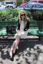 Stella McCartney for GAP jacket - rag & bone dress - Zara shoes - Chanel purse -