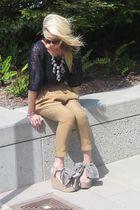 dvf blouse - Jcrew necklace - Zara pants