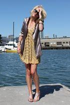 Aqua blazer - loeffler randall shoes - tracy reese dress