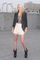 Givenchy shoes - H&M shorts - planet blue tights - BR Monogram blazer - Chanel p