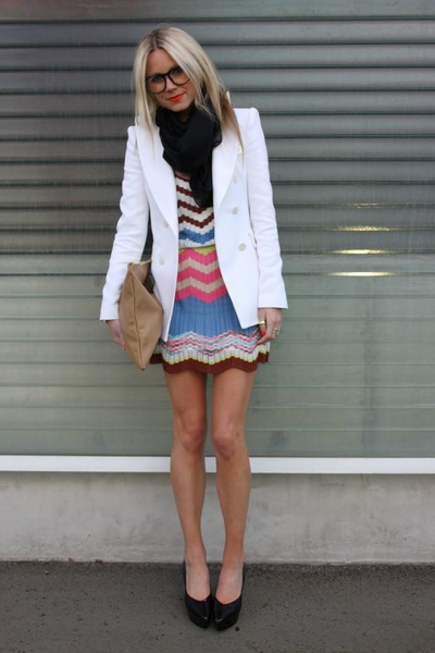 Missoni dress - Zara jacket - American Apparel bag - Jil Sander heels