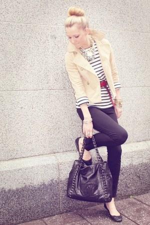 Diane Von Furstenberg pants - Theory jacket - Saint James blouse - Chanel bag -