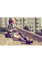 haute hippie top - Jcrew jacket - Nyla boots