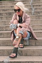 H&M jacket - Saint James shirt - vintage shorts - Alexander Wang heels