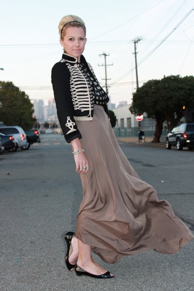 vintage blouse - Christian Louboutin shoes - Stella McCartney for GapKids jacket