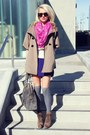 Luxury-rebel-boots-a-wang-dress-ann-taylor-scarf-madewell-socks-h-m-blou