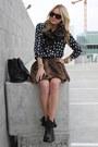 Givenchy-boots-banana-republic-scarf-chloe-sunglasses-zara-skirt-equipme