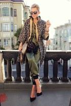 kenya T blazer - Karen Walker sunglasses - Zara heels - rachel roy romper