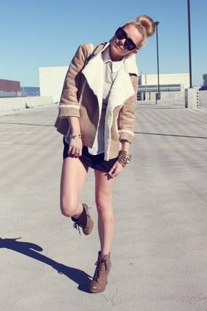 Luxury Rebel boots - Theory dress - Old Navy jacket - Michael Kors sweater