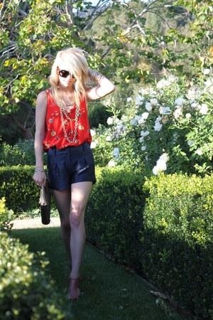 Rebecca Taylor top - dvf shorts - Rebecca Minkoff purse